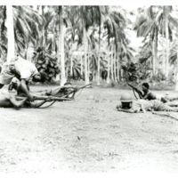 Standing  Cpl Zavani with Kimata - Piuniuna (???)…