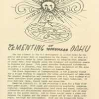 Cementing of Windward Oahu