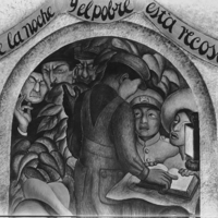 [Detail from Diego Rivera's fresco mural: Night of the…