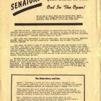 Senators! Your secret is now out in the open!