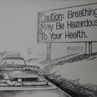 "Traffic Jam ""Caution: Breathing may be hazardous to…"