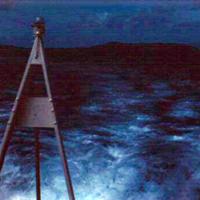 Wake of Picket boat. Truk. Mar. 1951