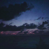 Sunset at Mr. Holt's. Saipan, M.I. 28 Oct. 1949