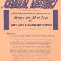 Residents of Salt Lake - general meeting!