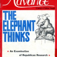 Advance: a journal of political thought. (2 v.,…