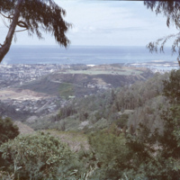 View of Punchbowl Crater, Honolulu and the ocean