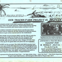 Hey, Nanakuli - our Tracks Park Project is movin'!