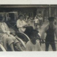 Two American women in rickshaw, Kamakura, Kanagawa,…
