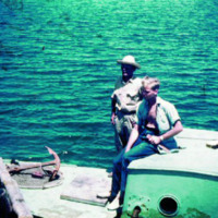 Eddie Crawford and Charlie Gibbons, native at Koror.…