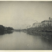 View of moat around Imperial Palace Grounds looking…