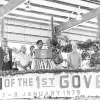 1979 Inauguration of first governor of Yap, John…