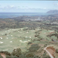 Overlook view of a golf course