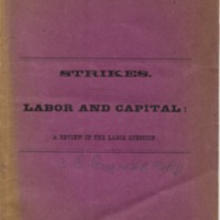 Labor and capital: a review of the labor question.