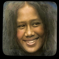Young Hawaiian woman smiling (Maui)