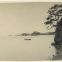 A boat on Matsushima Bay, Miyagi Japan