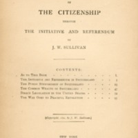 Direct legislation by the citizenship through the…