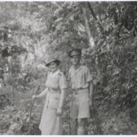 Mollie & driver at Rauma Falls. N.G. '43
