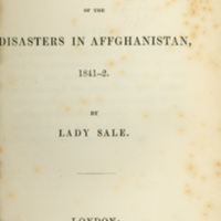 Journal of the Disasters in Affghanistan, 1841-2.