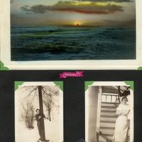 Page 04: Hawaiian sunset postcard and Dena Witicker