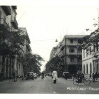 Postcard: Fouard Street, Alexandria, Port Said, Egypt