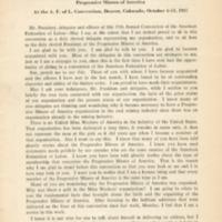 Address of President Joe Ozanic: progressive miners of…