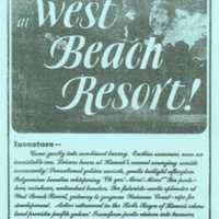 West beach resort!