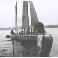 Lugger in Moresby harbor. N.G. '43