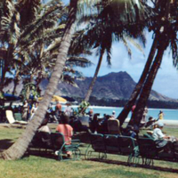 Diamond Head from Royal. Honolulu. July 1951