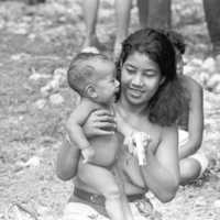 Yapese woman with baby. (N-33).