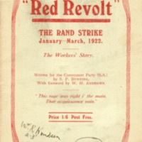Red revolt: the Rand strike, January - March, 1922: the…