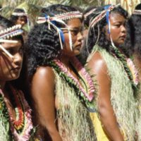 Young women attending the Outer Islands High School…