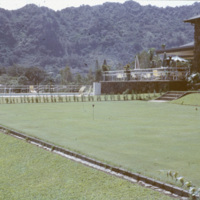 Lawn with a swimming pool