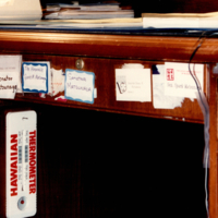 Senator Spark Matsunaga's desk