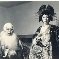 Kaizawa 1-005: Kabuki actors as Ikyu 意休  (left) and…