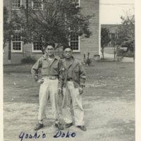 Two bespectacled Japanese men (Yoshio Doko & Masahisa…