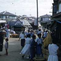 Crowded street in Naha