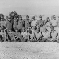 "Group photo of Japanese ""hold-outs"" at surrender,…"