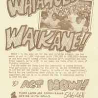 Unite with Waiahole Waikane!