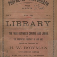 Library: the war between capital and labor: or the…