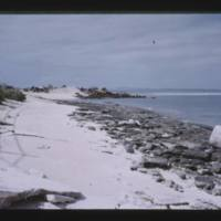 Parry (Elmer) Island. View from near south end - dump…
