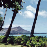 Diamond Head from the Halekulani. June 1951
