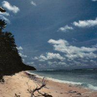 Beach on Satawal - 05