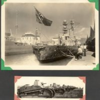 Page 39: Nazi light cruiser and World War I tanks