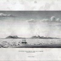 Vue de L' ile Oualan du Havre de Coquille (Archipel des…