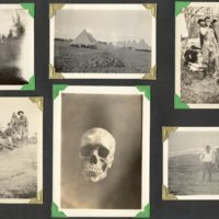 Page 27: Henry Warner, tents, skull