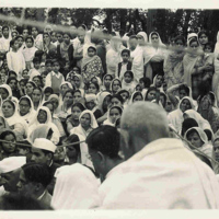 Gandhi at Evening Prayers
