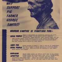 Why support pig farmer George Santos?