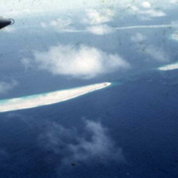 View of atoll. Marshall Islands. June 1950