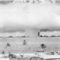 Atomic bomb test, Bikini lagoon, 1946. (N-4093.02).