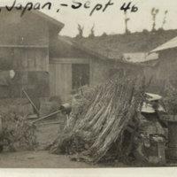 Farm house and yard, Mito Ibaraki Japan